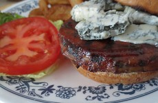 blue cheese burger vegetarian recipe