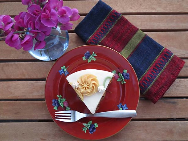 Eggless Carrot Cake Recipe by Liz Diamond at Healthyveggie.co