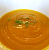 ginger sweet yam soup Recipe by Liz Diamond at Healthyveggie.co