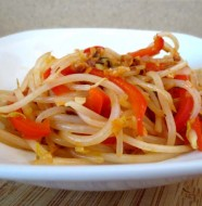 Spicy Mung Bean Salad Recipe by Liz Diamond at Healthyveggie.co