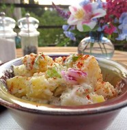 vegan potato salad recipe | www.healthyveggie.co | Healthy Veggie by Liz Diamond