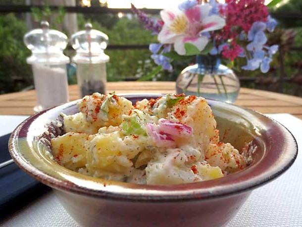 vegan potato salad recipe | www.healthyveggie.co | Healthy Veggie by Liz Diamond